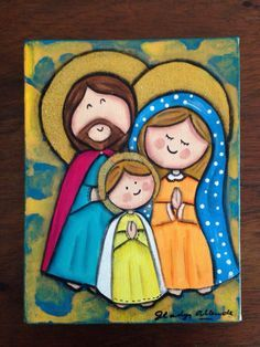Sagrada Familia Blessed Mother Mary, Blessed Virgin Mary, Religious Images, Religious Art, Christmas Nativity, Christmas Art, Arte Country, Mama Mary, Holy Mary