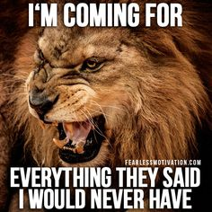 30 Motivational Lion Quotes In Pictures - The Best Lion Picture Quotes on Courage, Strength and determination to succeed. Motivational Quotes For Men, Motivational Speeches, Positive Quotes, Inspirational Quotes, Motivational Videos, Motivational Pictures, Positive Thoughts, Life Thoughts, Life Quotes Love