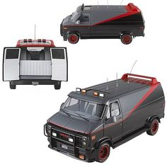 A-Team Classic Van Hot Wheels Elite 1:18 Scale Vehicle - Mattel - A-Team - Vehicles: Die-Cast at Entertainment Earth