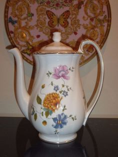 Wedgwood ROSEMEADE Coffee Pot #Wedgwood