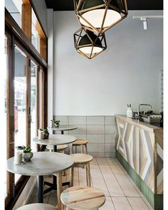 Adore this cafe  designed by Sydney Architecture and Interiors firm Luchetti Krelle | Campos Coffee, Sydney | via stylefiles |