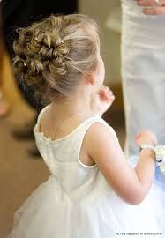 Risultati immagini per hairstyles baby bridesmaid