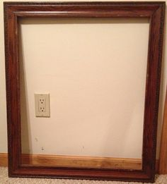 Large Vintage Wood Frame