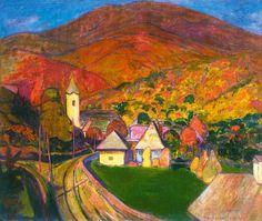 Iványi, Grünwald Béla (1867-1940) -  Nagybánya Landscape I., 1907-1908