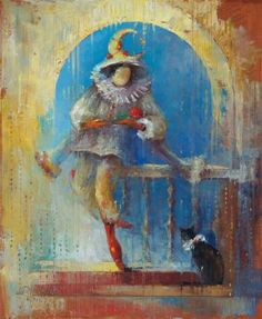 Anna Ravliuc - Paintings for Sale Paintings For Sale, The Darkest, Saatchi Art, Modern Art, Fantasy, Halloween, Anna, Artwork, Cabaret
