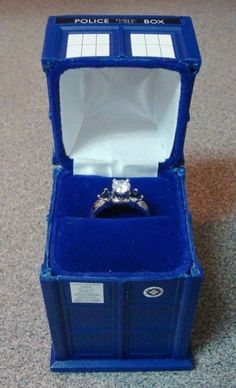 18 Geeky Wedding Rings I don't even need to see the ring, my answer is yes if you approach me with this box.