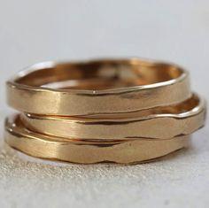 Organic shaped 14k gold ring