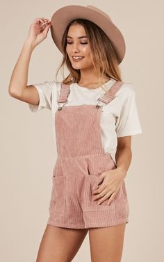 7b9cd8073726 Likely Story Overall In blush Dungarees