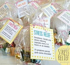 DIY Simple Stress Relief Package and Free Download! Im totally making these for my co-workers this Christmas! Ironic part is...I work in a doctors office! Love this!