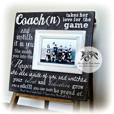 Personalized Coach Thank You Gift, Coach Gift Ideas, Basketball, Dance Team, Soccer, Football, Gymnastics, Baseball, End of Season 16x16