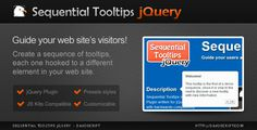Buy Sequential Tooltips jQuery by davoscript on CodeCanyon. Sequential Tooltips is a jQuery Plugin which allows you to create a sequence of tooltips, each of them hooked to a di. Wordpress Template, Wordpress Plugins, Ecommerce, Tour Guide, Website Template, Social Networks, Web Design, Coding, Writing