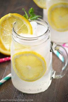 Easy Homemade Lemonade from What The Fork Food Blog   @whattheforkblog   whattheforkfoodblog.com