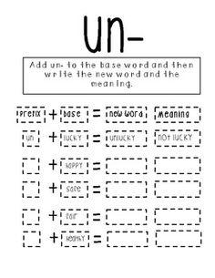 Worksheets Prefix Worksheets 2nd Grade un prefix worksheets delwfg com worksheet pichaglobal