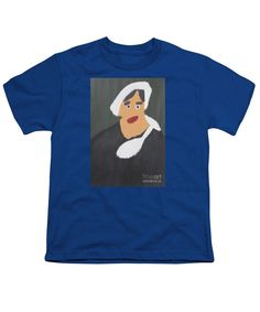 Patrick Francis Royal Blue Designer Youth T-Shirt featuring the painting Portrait Of A Woman With White Cap 2015 - After Vincent Van Gogh by Patrick Francis