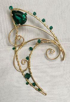 Ear Jewelry, Cute Jewelry, Jewelery, Jewelry Making, Jewelry Crafts, Handmade Wire Jewelry, Wire Wrapped Jewelry, Elf Ear Cuff, Elf Ears