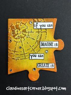 Claudine's Art Corner: Altered Puzzle Challenge Week 2