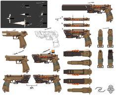 ArtStation - Concept guns - Pistol [M9P-A], Myeoung sik Ji
