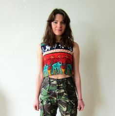 elephant crop top (SOLD to Brooklyn)