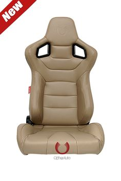 Cipher Euro Racing Seats Tan Leatherette Carbon Fiber **Special Edition** - Pair