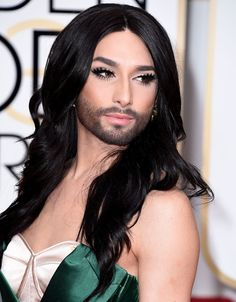 Conchita Wurst is proof that a smoky eye, bombshell waves, and a beard can all be rocked at the same time.