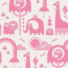Jonathan Adler - Junior Jungle Wallpaper in Pink.