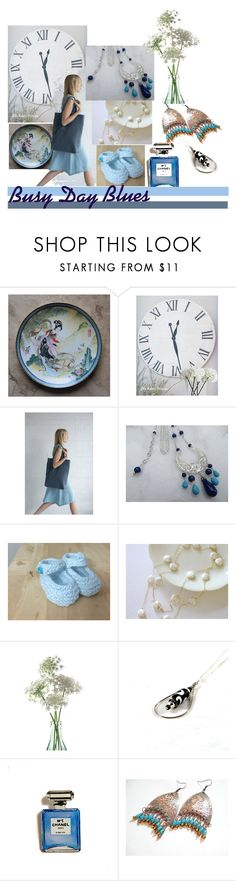 """""""Busy Day Blues"""" by inspiredbyten on Polyvore featuring Lazuli, Chanel and vintage"""