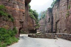 A twisting mountain thoroughfare in the heart of China. #vstheworld