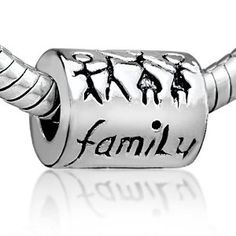 Pugster Family Charms Bead for Pandora/Troll/Chamilia Style Charm Mothers Day Gifts