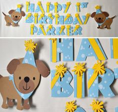 Puppy Dog Birthday Party Banner  Party Decoration  by bcpaperdesigns #birthdayparty #decoration #puppy