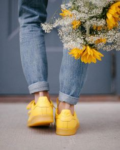 Feeling sunny in the @adidasoriginals Supercolor Stan Smith Sneaker.  #UOonYou