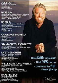 Richard Branson success rules Success Quotes, Life Quotes, Quotes Quotes, Wisdom Quotes, Career Quotes, Success Story, Quotes Images, Daily Quotes, Motivation Poster