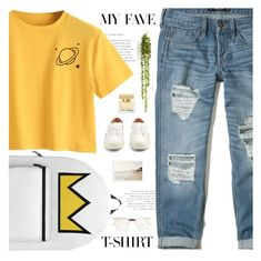 """""""My Fave T-shirt"""" by aurorabvik ❤ liked on Polyvore featuring Hollister Co., Aquazzura, Gucci, Dolce&Gabbana, dolceandgabbana, hollister, gucci, riverdale and MyFaveTshirt"""