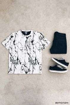 Product Name:Marble Pattern Ribbed Tee, Category:CLEARANCE_ZERO, Price:17.9