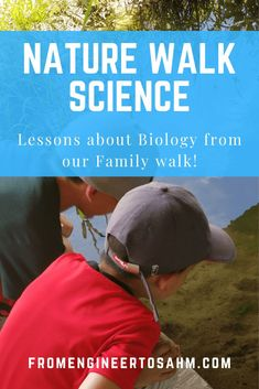 Take a Nature Walk with your kids, and introduce them to Biology! Great STEM fun for Families! Math Activities For Kids, Steam Activities, Preschool Science, Hands On Activities, Kindergarten Crafts, Outdoor Activities, Play Based Learning, Early Learning, Lifecycle Of A Frog