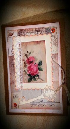 Přání  s růžemi a klíčem