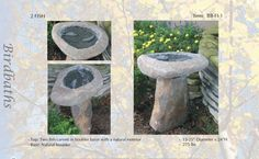 "ATTRACT MORE BIRDS WITH WINTER BIRDBATHS. Water is vital for wild birds all year round.  Cold weather in northern climates brings a special challenge to survival because natural water sources are often frozen.  Providing ice-free water for drinking and feather maintenance can be life-saving for our feathered friends.""   GRANITE  IS  FOREVER!"