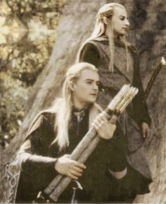 Legolas and Haldir - What could be better than having a pic of Legolas or Haldir? Having them together!