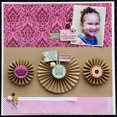 Oh kraft with color pops, I love thee so. Lily Bee Design, Head over Heels collection.