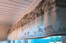 Lofoten gardinkappe Valance Curtains, Knitting Patterns, Home Decor, Knit Patterns, Decoration Home, Room Decor, Knitting Stitch Patterns, Home Interior Design, Valence Curtains