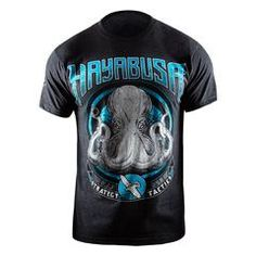 Hayabusa Octopus Shirt - L / Black-Blue
