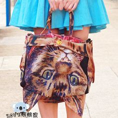 Japanese Harajuku zipper soft sister muchacha Star who meow cat bag cat bag owl bag shoulder bag handbag - Taobao
