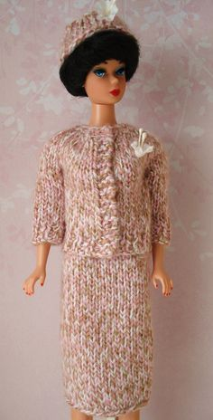 Barbie Hand Knitted 3 Piece Day Outfit by BarbiesRetroBoutique, $19.99
