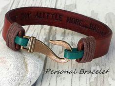 Hidden MessagePersonalized Leather Men Bracelet Women Men