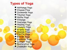 Image result for types of yoga Different Types Of Yoga, Image