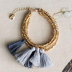 Snowden Gold Bead Wrap Bracelet - whatsnew