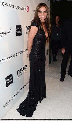 Britney Spears at Elton John's 21st Annual AIDS Foundation Academy Awards Viewing Party.