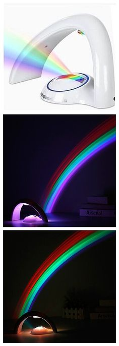 Creative Rainbow Projector to style up a romantic room atmosphere.