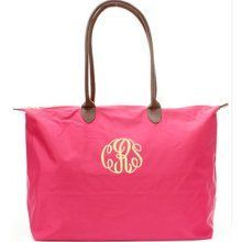monogramed longchamp purse