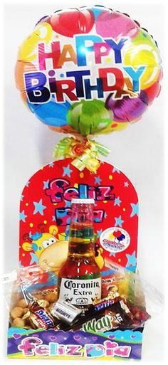 Contamos con Arreglos de Globos con #Cerveza #Corona!! Siempre hay una #Ocasión!! Candy Bouquet, Gifts, Ideas, Food, Birthday Gifts, Bag Packaging, Corona Beer, Candy Arrangements, Presents
