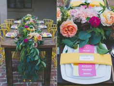 place settings - photo by Two Foxes Photography http://ruffledblog.com/tropical-july-4th-styled-wedding
